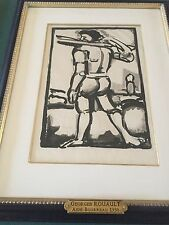 George ROUAULT  (1871-1958) original old etching with aquatint 'Aide Burreau'