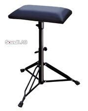 Sound Lab Keyboard Drum Stool Chair with Padded Seat & Folding Legs