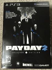 Payday 2 Collectors Edition, New PS3 US Special Limited