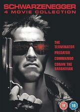 TERMINATOR PREDATOR COMMANDO CONAN THE BARBARIAN SCHWARZENEGGER 4 DISC DVD L NEW