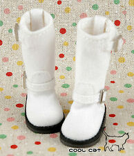 ☆╮Cool Cat╭☆【10-03】Blythe Pullip Doll Boots # White