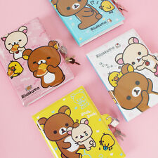 Cute Rilakkuma Secret Journal with Lock Key Hard Diary San-x Official for girl