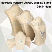 Cotton Necklace Display Stand Pendant Jewelry Neck Bust Holder Rack Showcase