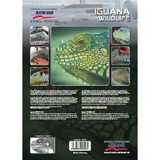 """Airbrushing stencil step by step """"Iguana Wildlife"""" A4  (11.5*8 inch) template"""