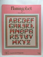 Flamingobet Counted Cross Stitch Pattern Flamingo Alphabet Jeanette Crews BK 98