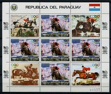 PARAGUAY 1988 Olympiade Olympics Seoul Reiter Pferd 4200 Kleinbogen ** MNH
