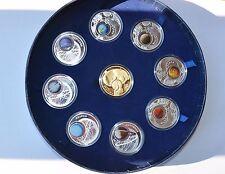 Systema Solare, 9 coin set Silver Solar System, Poland 2009, COA