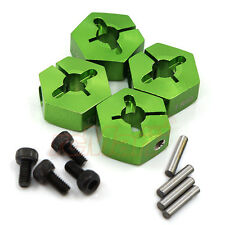 GPM Aluminum Hex Adapter 14mm X 7mm Green Axial EXO SCX10 Wraith #AX010-14X7MM-G