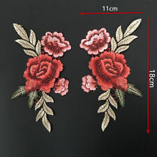 2 x Ecusson Patch Rose Fleur écusson Thermocollant Chapeau SAC Applique