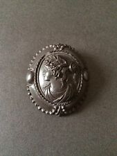 VINTAGE CAMEO RESIGN MOURNING BROOCH CRAVED EXQUISTIE UNIQUE RARE