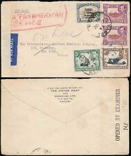KUT KENYA MOTOR MART ENVELOPE CENSORED AIRMAIL MULTI FRANKING to USA 1943