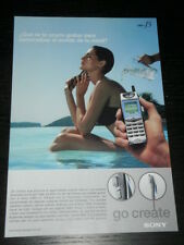 2001 - SONY CMD J5 - CELLULAR PHONE  AD PUBLICITE ANUNCIO- SPANISH - 1824
