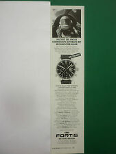 9/2000 PUB MONTRE FORTIS WATCH MIG 25 WORLD RECORD ORIGINAL GERMAN ADVERT