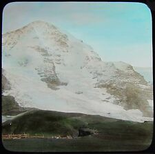 Glass Magic Lantern Slide JUNGFRAU FROM WENGERN ALP C1890 PHOTO SWITZERLAND