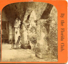 FLORIDA CLUB ST AUGUSTINE VIEWS STEREOVIEW CORRIDOR OLD SPANISH HSE HOSPITAL ST
