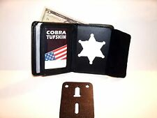 Clinton Co Michigan SHERIFF'S BADGE WALLET RECESSED Blackinton B-956 CT-10