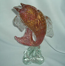 MURANO  ART GLASS JUMPING FISH