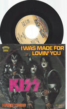 "7"" KISS I WAS MADE FOR LOVIN YOU"