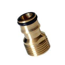 "1/2"" Threaded Brass Tap Adaptor Garden Water Hose Pipe Connector Quick Fitting"