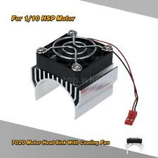 7020 Motor Heat Sink With Cooling Fan for 1/10 HSP RC Car 540 Motor Silver V8Y7