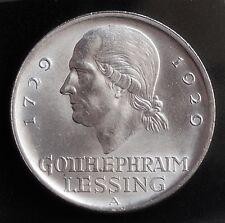 5 Reichsmark  Lessing  1929 A Jg 336 ** Prachtstück ** 5 WR 16