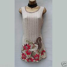 Limited Karen Millen Art Deco Beaded Jeweled Floral Mini Flapper Dress 10 UK