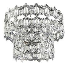 BNIB Ornate Silver Jewel 2 Tier Moroccan Style Shade Pendant Ceiling Light NEW