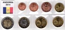 EURO ANDORRA 2014 - 8 monete FDC in blister completo da 1 CENT A 2 €