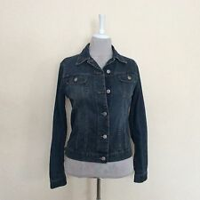 SISLEY Women's Denim Jean Jacket Size S  8/10 VGC Made In Italy