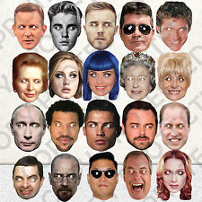 CELEBRITY 20 FACE PARTY MASK FANCY DRESS HEN BIRTHDAY MASKS STAG DO #MP1