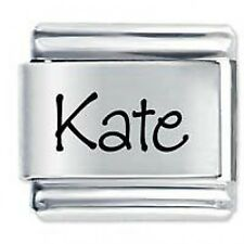 KATE Name - Daisy Charm by JSC Fits Classic Size Italian Charms Bracelet