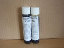 2 Bottles of Vanishing/Disappearing ink.Sprinkle on White Material.Joke Trick