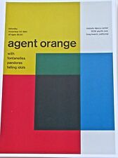 "Agent Orange Rock and Roll Band Concert Poster 2  Remixed 13.5x10"" Unsigned"