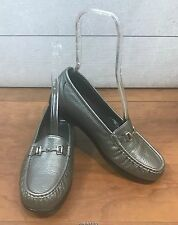 SAS Tripad Comfort  Loafers Flats Shoes Silver Metallic Leather 9 WW Extra Wide