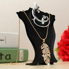 Pendant Necklace Earring Jewelry Bust Mini Display Holder Stand Showcase Black