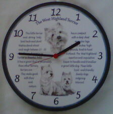 The West Highland Terrier/Westie/Scottie/ Wall Clock/ Scottish/ Scotland/ New