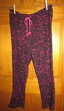 "Joe Boxer women's large pj pajama lounge bottom Polyester W33-43"" EUC"