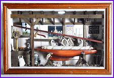 Cadre d objet de marine sous verre