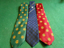 3 Official ROTARY INTERNATIONAL MEN'S TIE/Ties Russel-Hampton Maroon/Navy/Green