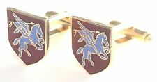 Pegasus Airbourne Military Enamel Crested Cufflinks (N29)
