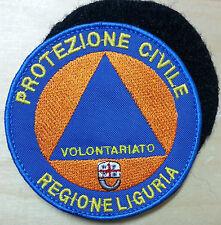 PROTEZIONE CIVILE REGIONE LIGURIA -  diametro cm 8 toppa patch con VELCRO