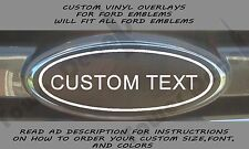 CUSTOM VINYL OVERLAY FITS ALL FORD EMBLEMS EDGE EXPLORER FOCUS FUSION ESCAPE