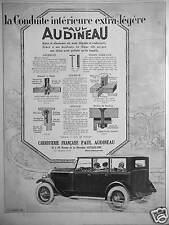 PUBLICITÉ 1925 CARROSSERIE FRANÇAISE PAUL AUDINEAU EXTRA-LÉGÈRE - ADVERTISING