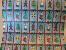 21 FEET VINTAGE CHRISTMAS GIFT WRAP WRAPPING PAPER OFF A STORE ROLL SCRAPBOOKING