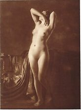 1920's Vintage Female German Nude Model Art Deco F. Grainer Photo Gravure Print