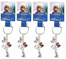 4x Disney Frozen Princess Anna Elsa Olaf Metal Keychain Charms Party Favor Gifts