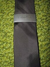 "Men's $50. CALVIN KLEIN ""STEEL"" Black Silk Tie"