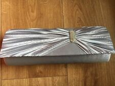 Dents Silver Clutch Bag For Wedding/Ball/Formal. NEW