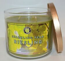 NEW BATH & BODY WORKS SPARKLING PEAR RIESLING SCENTED CANDLE 3 WICK 14.5OZ LARGE