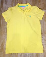 NICE WOMANS LILLY PULLITZER YELLOW POLO SHIRT S/S COTTON SPANDEX MEDIUM PERFECT!